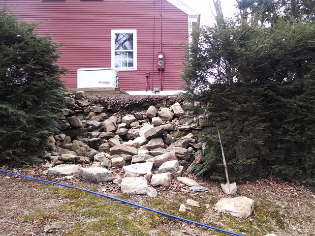 Stonewall rebuild before